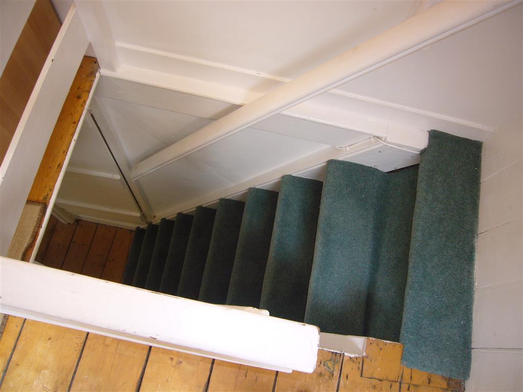 03) Mermaids Rest -  Steep stairs down from attic bedroom 3