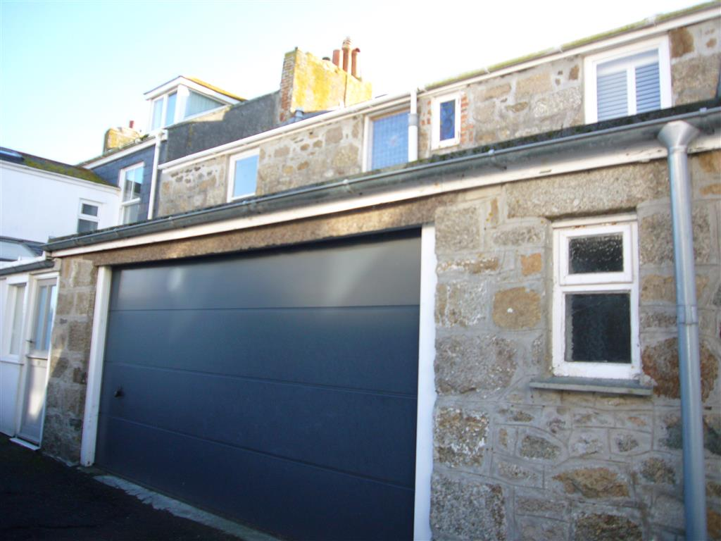 07) Porth House -  Rear of house and garage