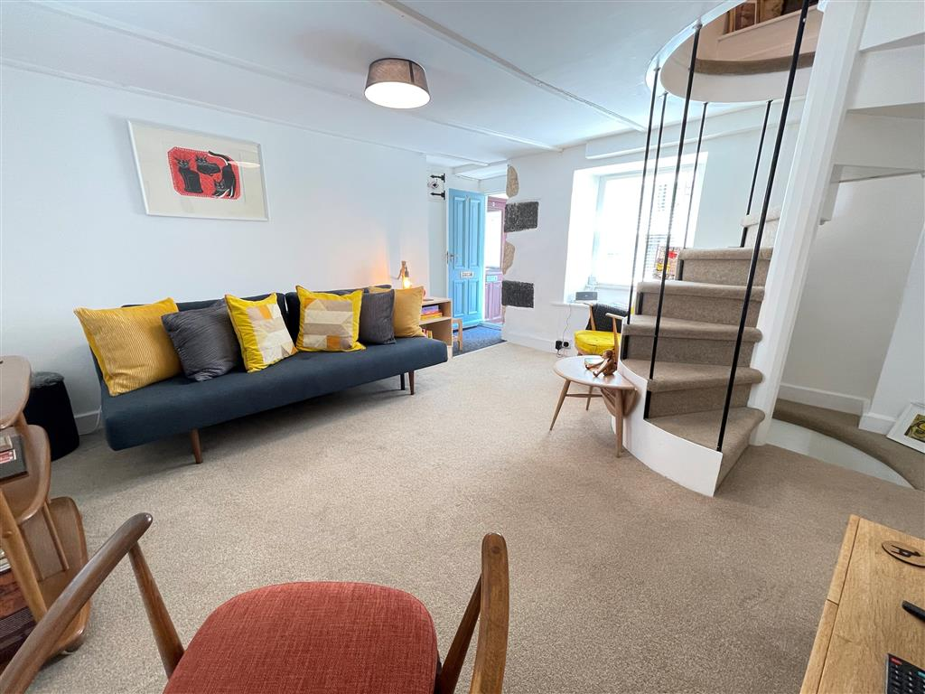 29) Sixpence Cottage -  Stairs from sitting room to bedrooms