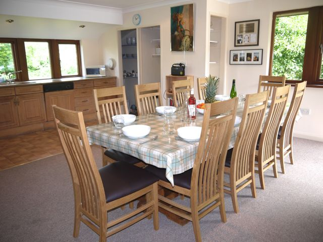 Dine in the kitchen or the dining room