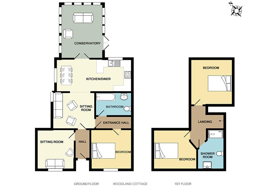 new floorplan woodland cottage