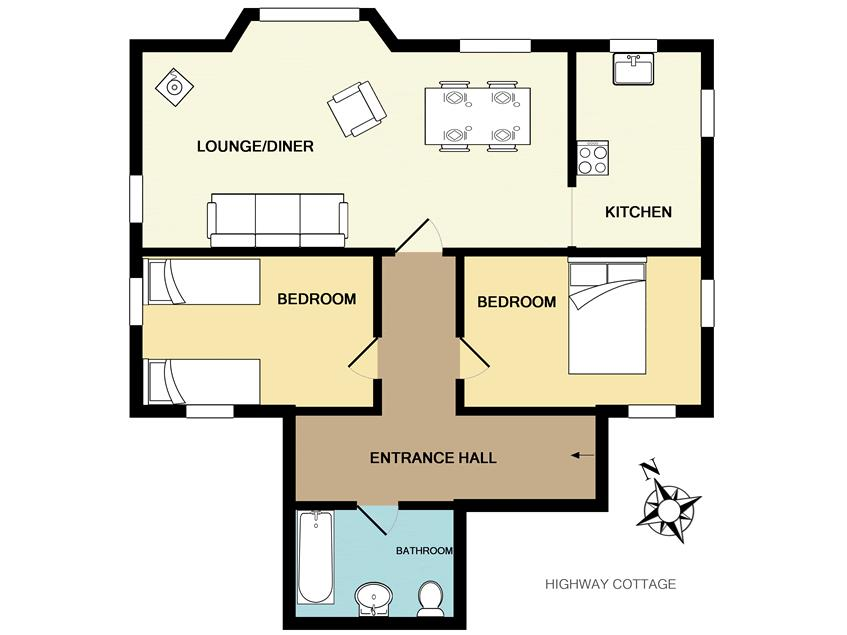 floorplan highway cottage